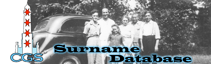 Coming soon! A database of all surnames currently researched by members of the Chicago Genealogical Society.